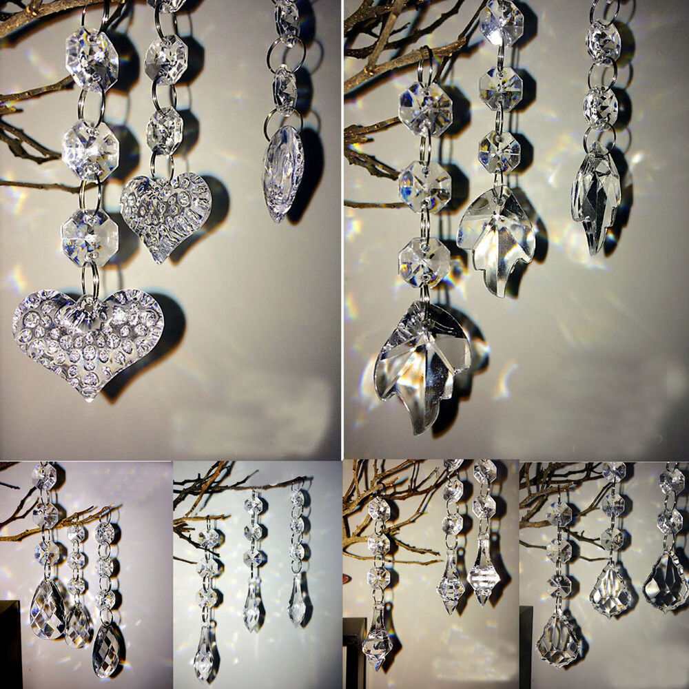 New acrylic crystal clear bead garland hanging chandelier for Aana decoration wedding accessories