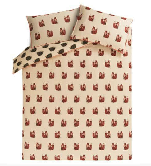 George 100 Brushed Cotton Flannel Fox Amp Hedgehog Duvet