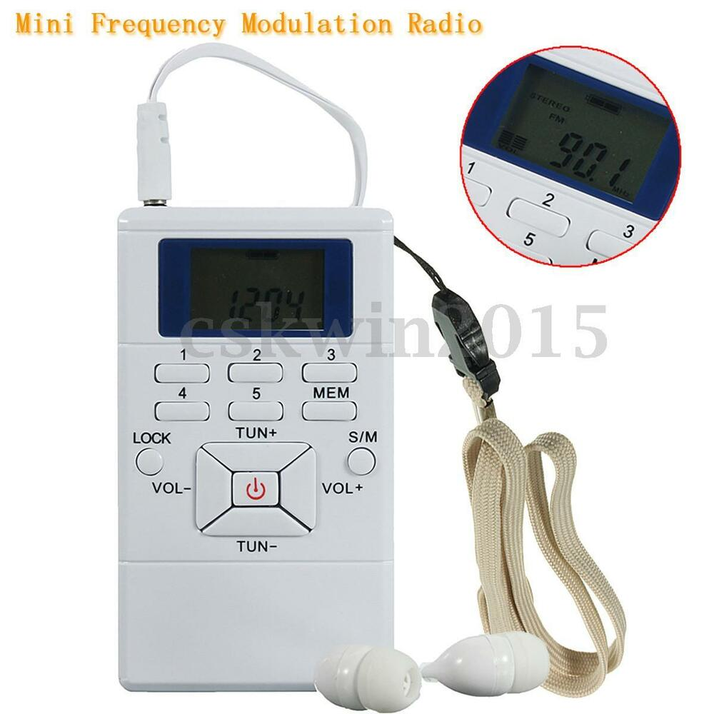 mini digital portable frequency modulation fm radio signal. Black Bedroom Furniture Sets. Home Design Ideas