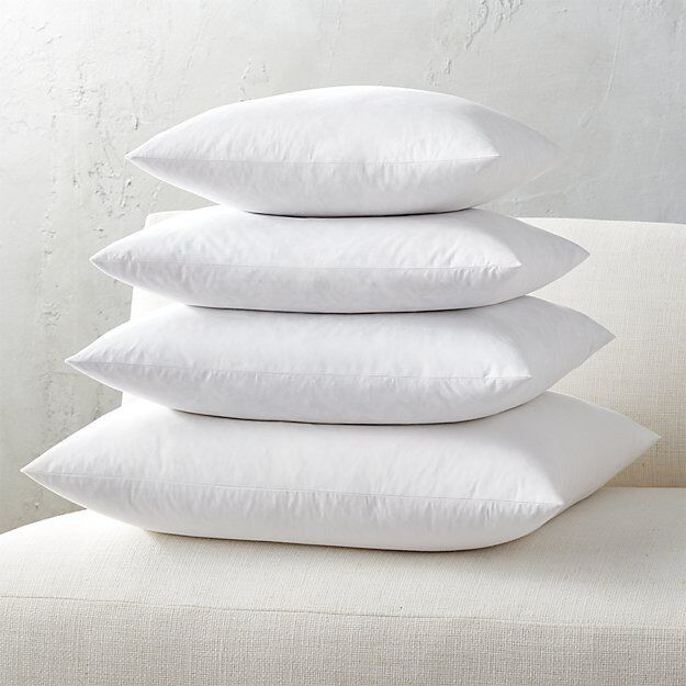 Euro square pillow insert feather down inner cushion for Best euro pillow inserts