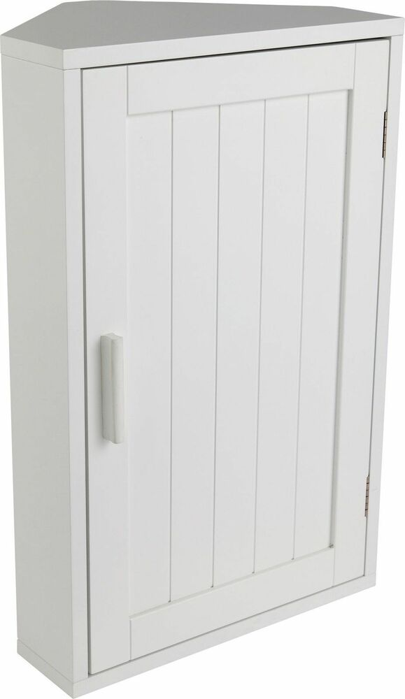 Bathroom storage cabinet wooden white corner wall shaker - White bathroom corner shelf unit ...