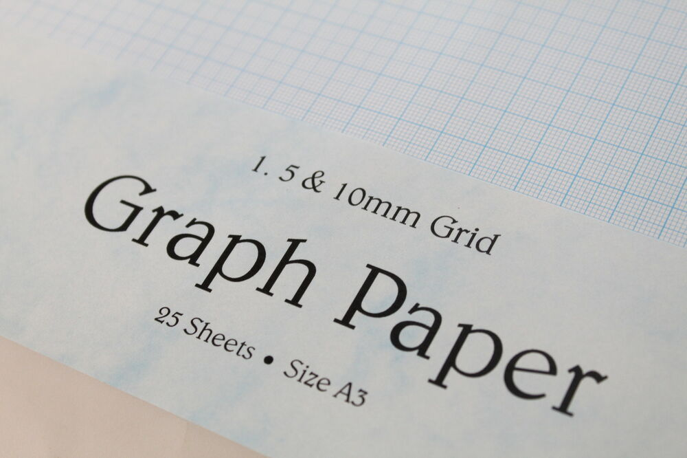 a3 single sided 120gsm smooth graph paper  1mm  5mm  10mm