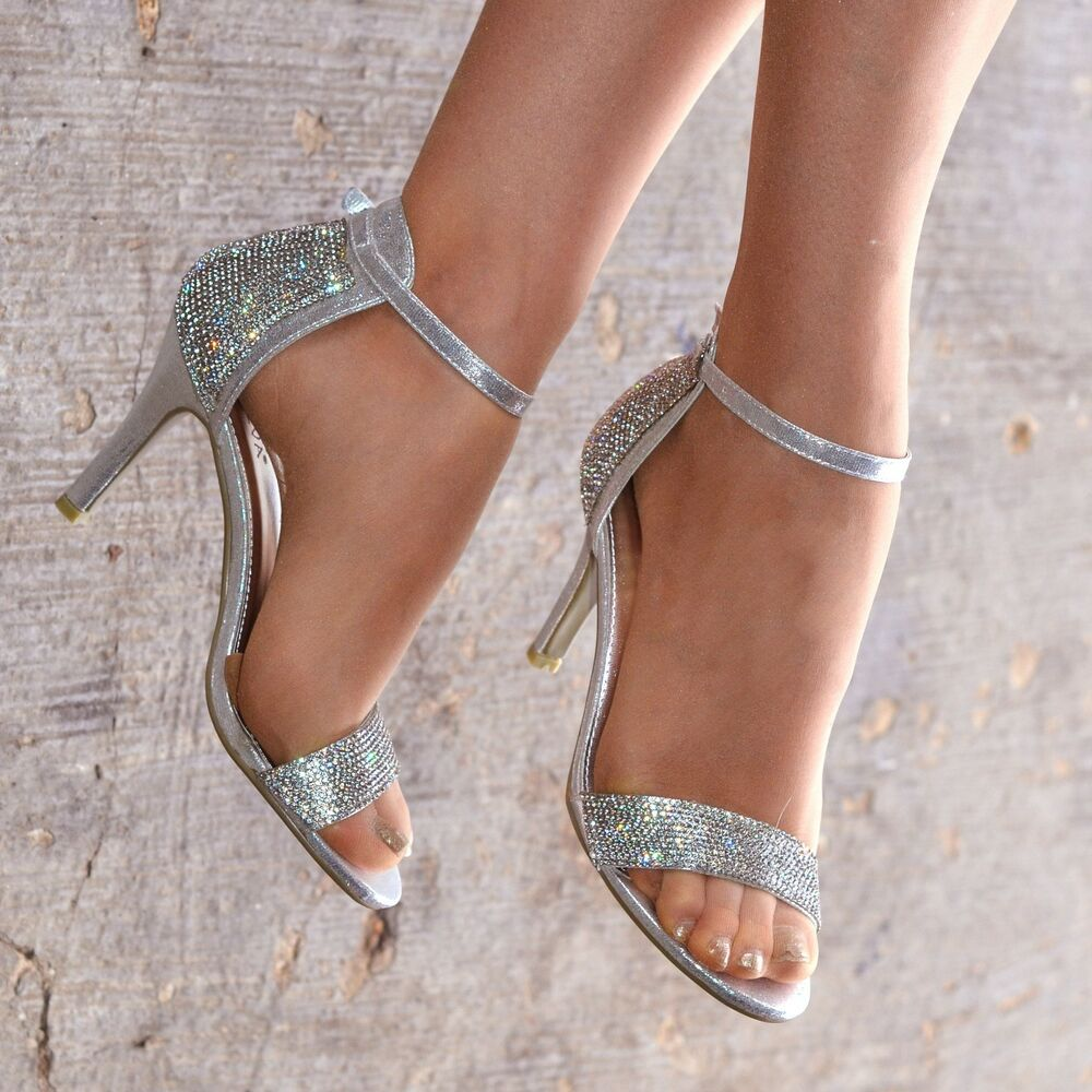 Womens Party Shoes Silver