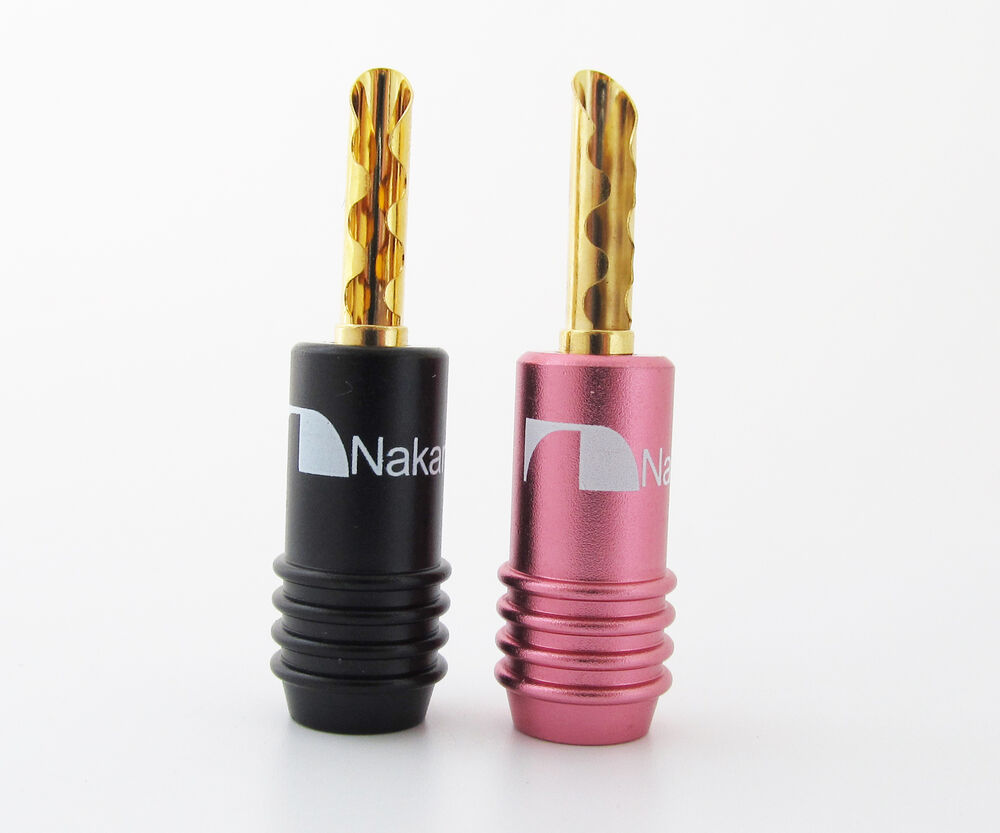 50pcs nakamichi audio bfa banana plug speaker cable connector gold plated screws ebay. Black Bedroom Furniture Sets. Home Design Ideas