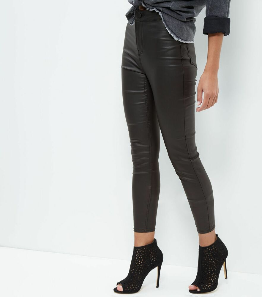 New Look Black Coated High Waisted Super Skinny Jeans RRP ...
