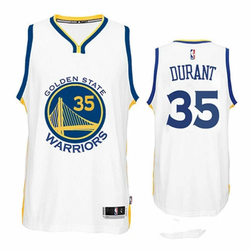 d7fb6c2635e Details about NBA Golden State Warriors Kevin Durant  35 Men`s Jersey -  White