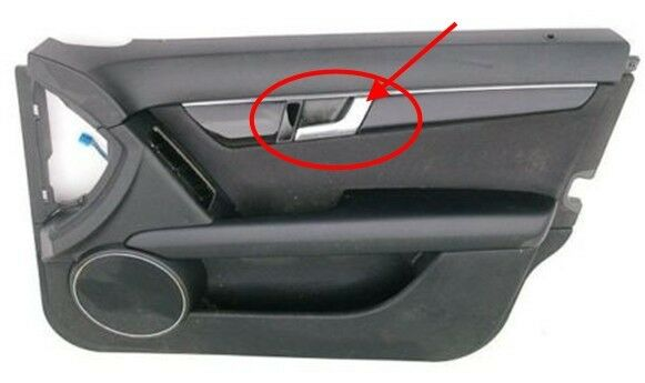 For mercedes w204 right side chrome inside interior door for Mercedes benz upholstery repair