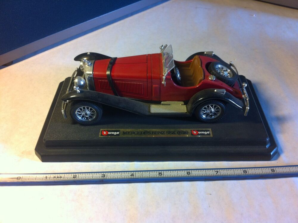 1928 mercedes benz ssk 1 18 diecast sports roadster car for Mercedes benz ssk 1928 burago