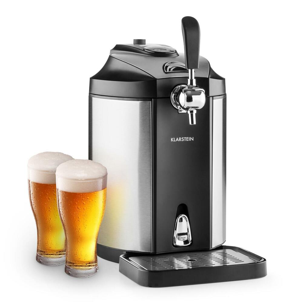 klarstein skal beer tap dispenser beer cooler 5 l kegs co2 stainless steel ebay. Black Bedroom Furniture Sets. Home Design Ideas