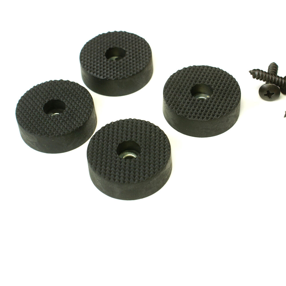4 Quality Rubber Feet For Guitar Amps Speaker Cabinets Etc