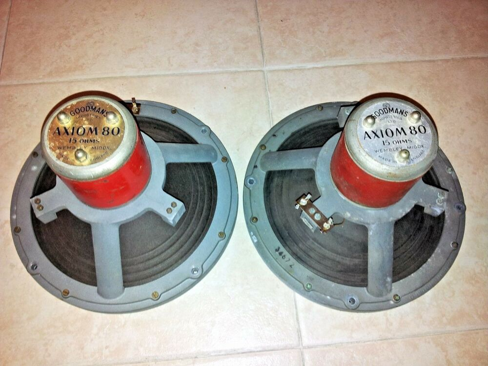 Pair Of Goodmans Axiom 80 Fullrange Speaker Ebay