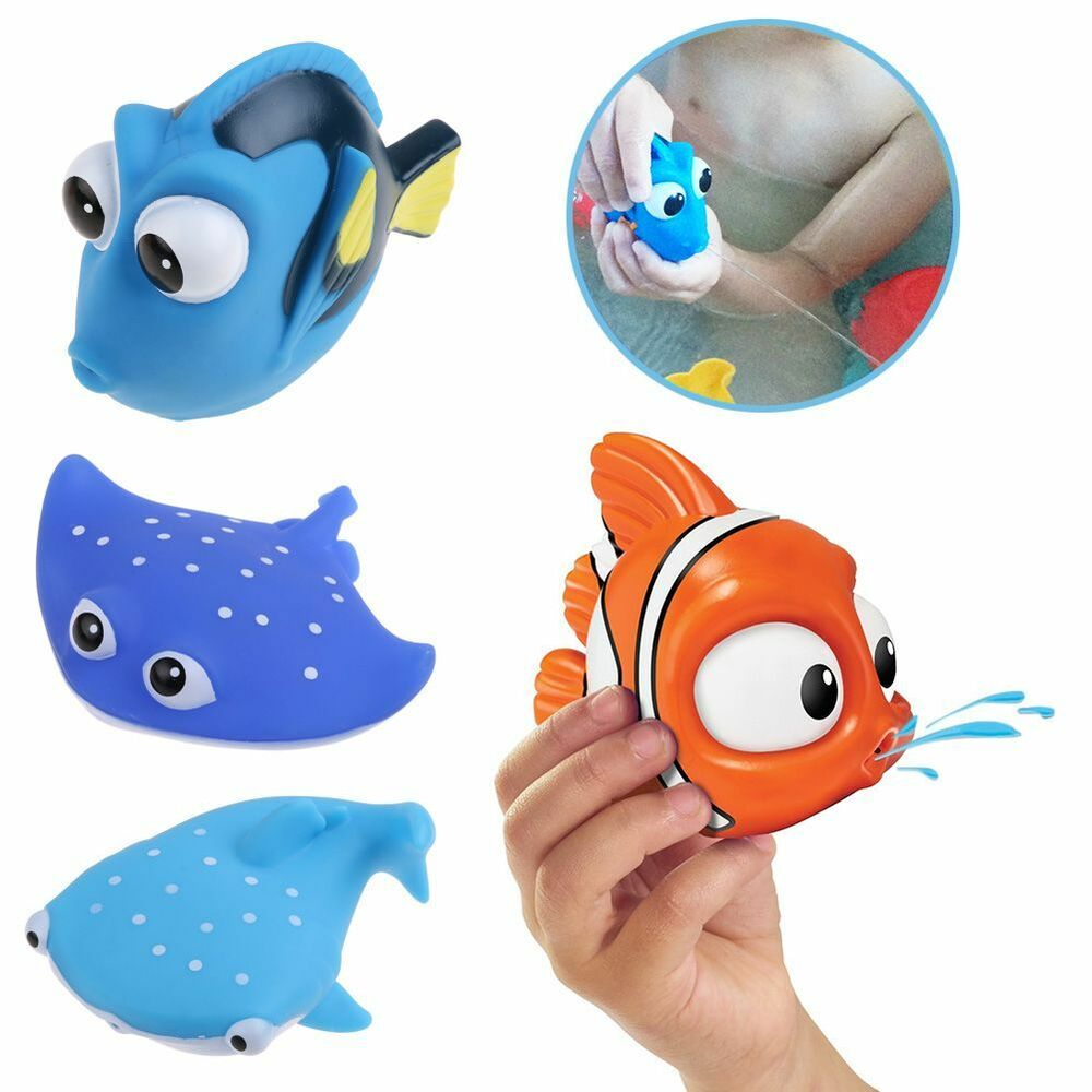 baby bath toys nemo squirt kids float water tub rubber bathroom play animals. Black Bedroom Furniture Sets. Home Design Ideas