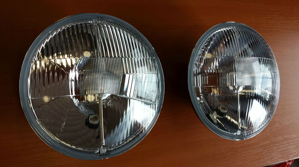 scheinwerfer headlights vw karmann ghia us to eu 2x set kit neu ebay. Black Bedroom Furniture Sets. Home Design Ideas