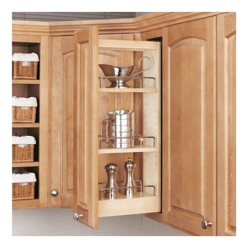 kitchen cabinet caddy rev a shelf pull slide out adjustable kitchen storage wood 18292