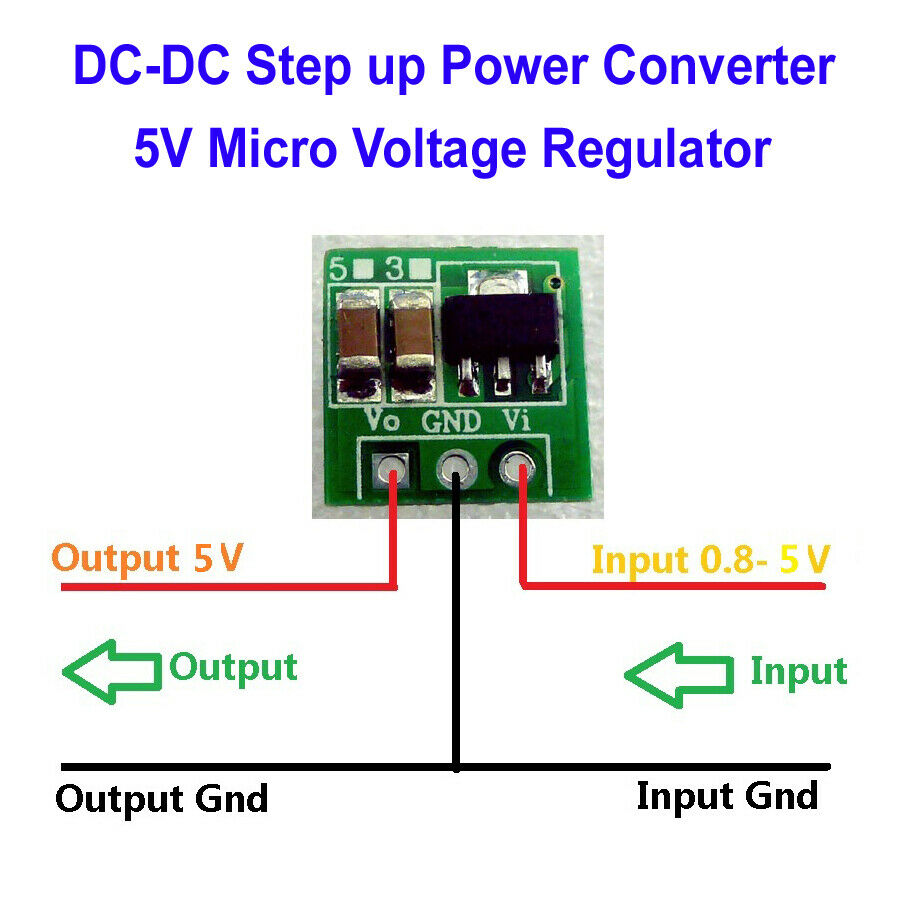 Dc Boost Step Converter 1 5v 3v 3 7v 4 5v To 5v Voltage
