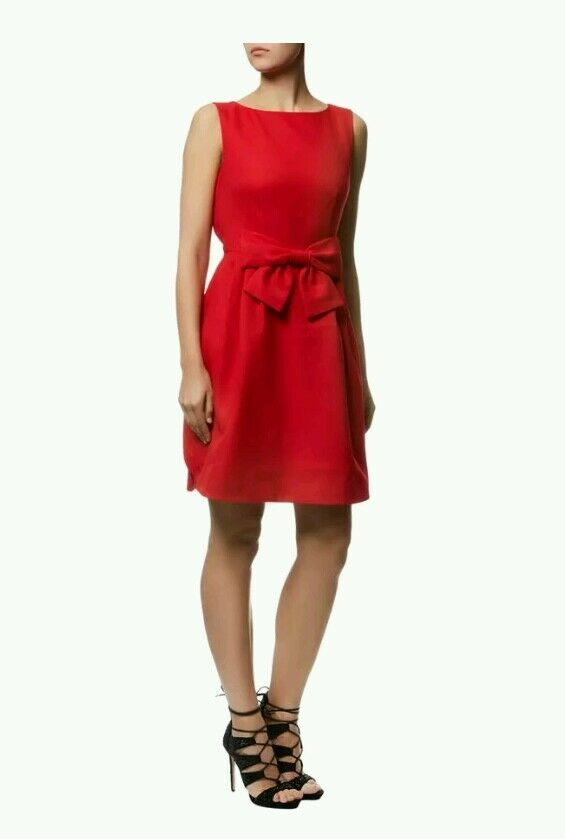 2d7e4b567 Ted Baker Nuhad Bow Dress Red Size Ted 2 US 6 -