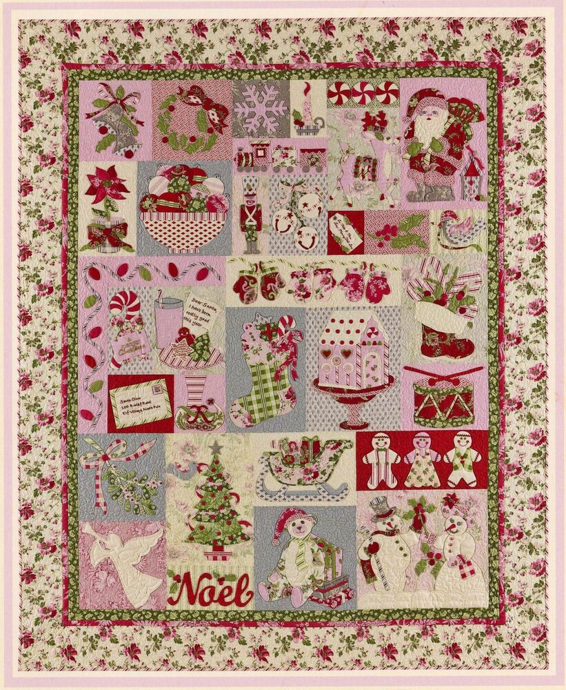 Noel Block Of The Month Quilt Pattern Christmas Applique