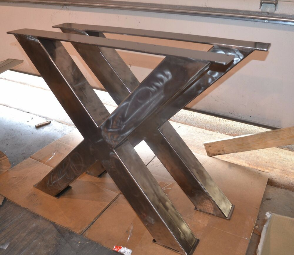 X Frame Table Desk Bench Legs Any Size Color Ebay