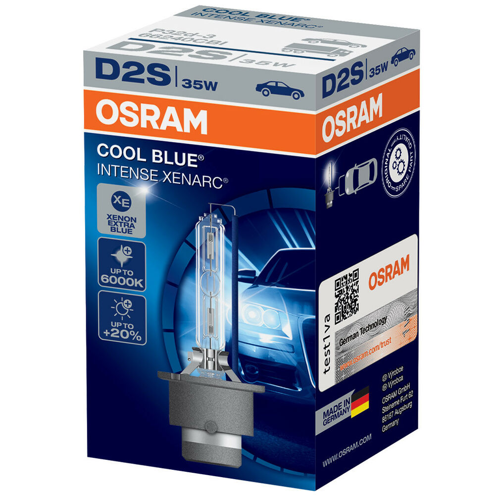 d2s osram xenarc cool blue intense 6000k light xenon hid. Black Bedroom Furniture Sets. Home Design Ideas