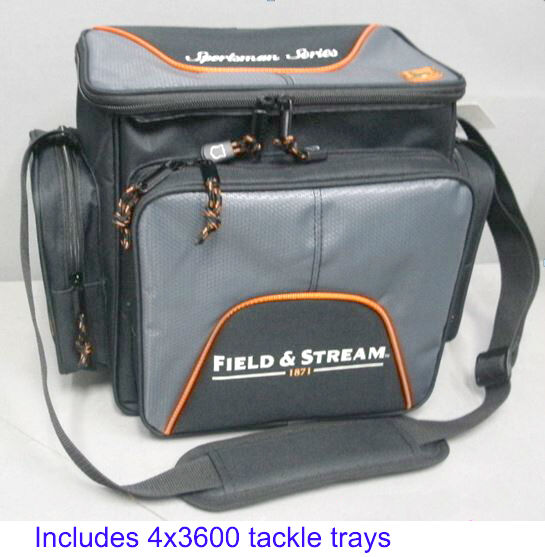 Field & Stream Soft Sided Fishing Tackle Carry Bag w 4 ...