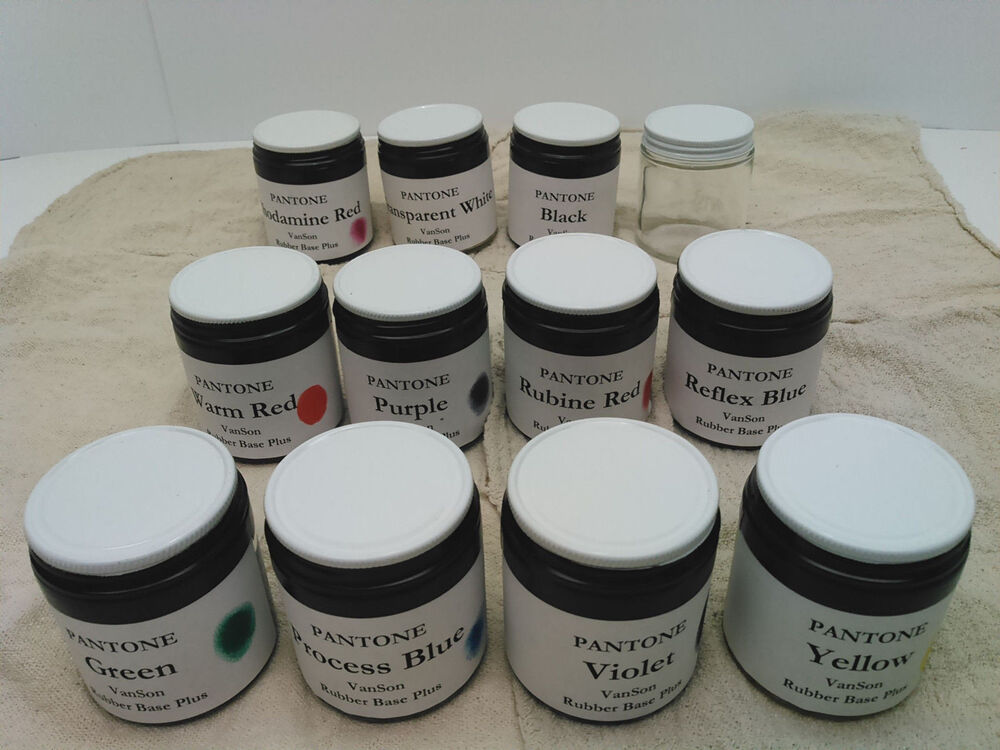 pms pantone ink kit vanson rubber base for letterpress prinitng ea of 11 ebay. Black Bedroom Furniture Sets. Home Design Ideas