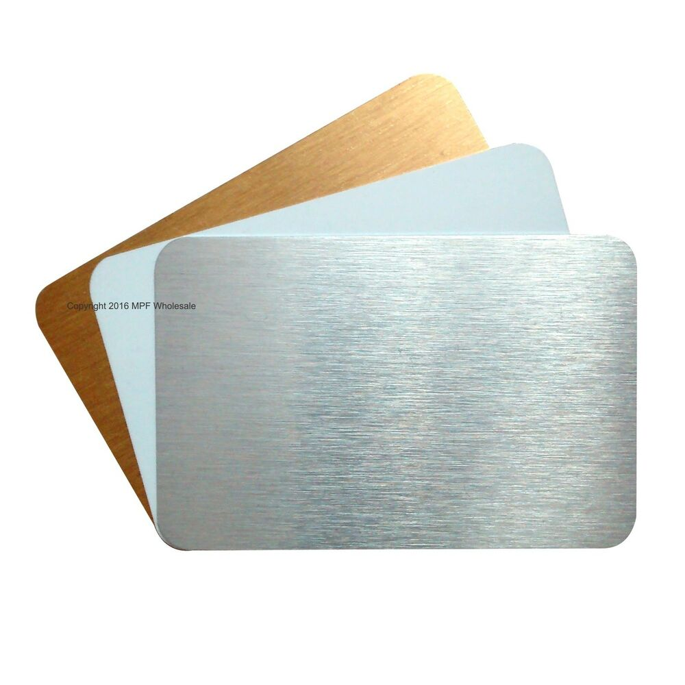 Blank Aluminium Metal Business Cards Dye Sublimation