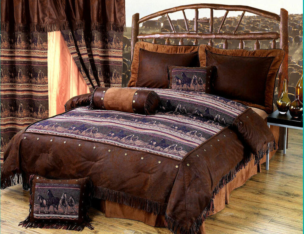 Mustang Western 5 Pc Twin Comforter Bedding Set
