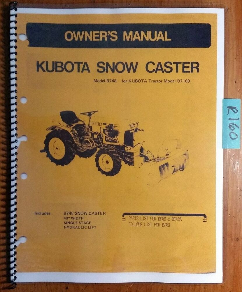 Kubota g2100 owners manual
