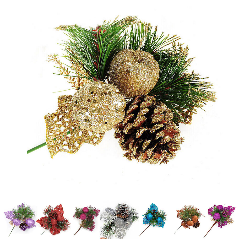 Christmas pine cones baubles xmas tree decorations for Home christmas tree decorations