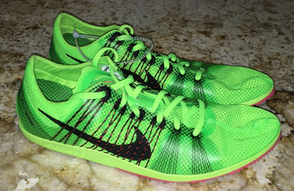 san francisco 590d8 434a6 Details about NIKE Matumbo 2 Lime Green Black Mid Distance Track Spikes Mens  Sz 4.5 5 7 12 14