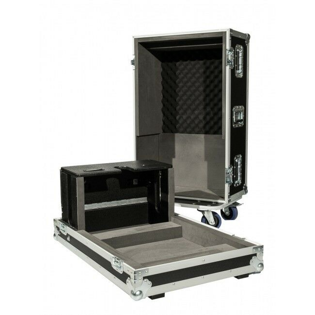 flight case for a yamaha ql1 digital mixing desk with castors and dogbox ebay. Black Bedroom Furniture Sets. Home Design Ideas