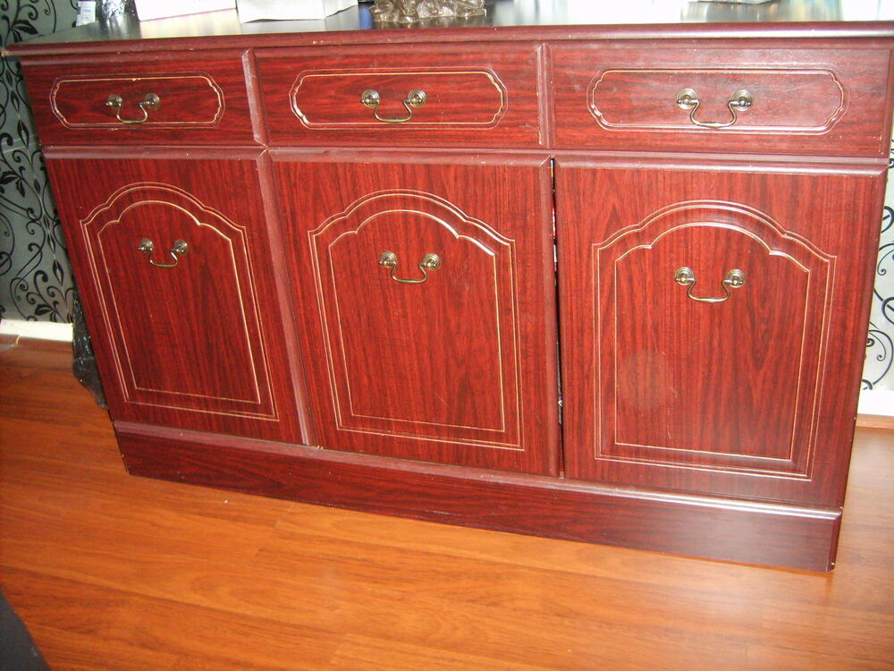 Dark Wood Buffet ~ Dark wood sideboard ebay