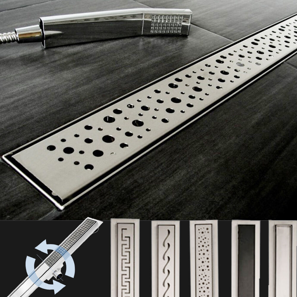 Flat 2in1 Linear Shower Drain Tray Shower Enclosure