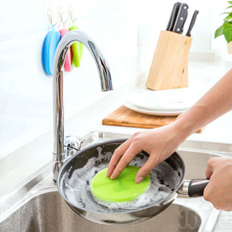 Cleaning Kitchen Utensils: Silicone Kitchen Cooking Cleaner Tool Pot Bowl Dish