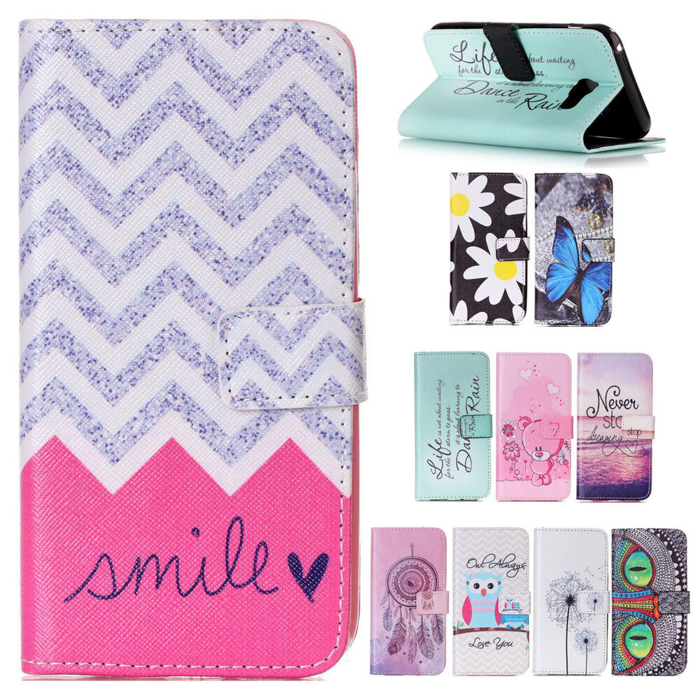 Leather Wallet Card Flip Case Cover For Lenovo Huawei Samsung iPhone ...