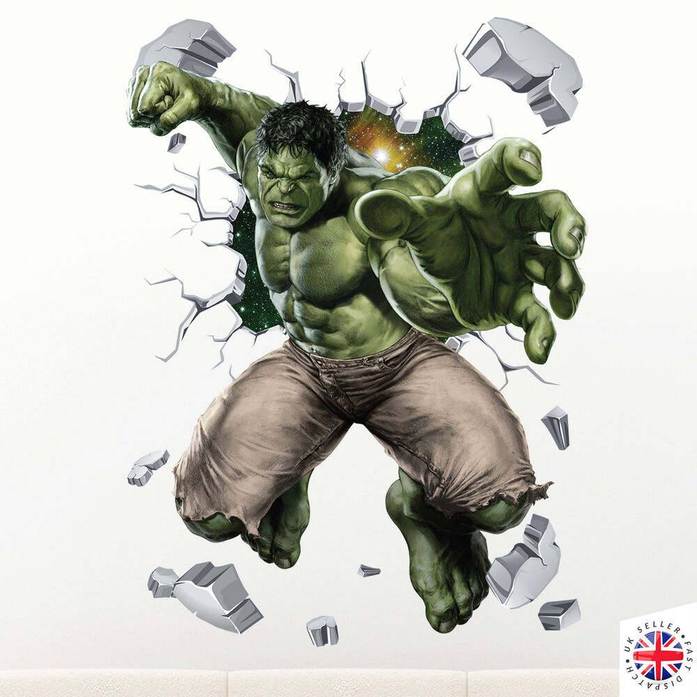 3D HULK Wall Sticker Vinyl Art Home