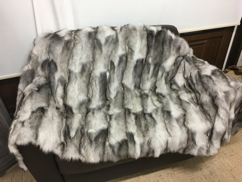 Blue Frost Fur Blanket Throw Best Quality Gift Wedding