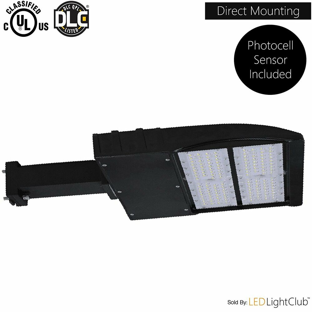 Parking Garage Lighting Controls: LED Parking Lot Shoebox Pole Light Fixture With Photocell