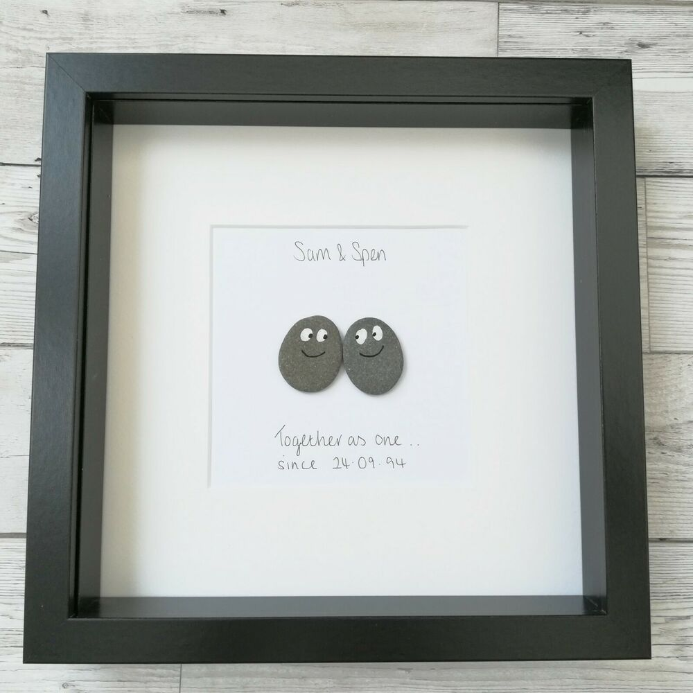 decorative items for wedding anniversary pebble picture pebble frame home decor birthday 12063