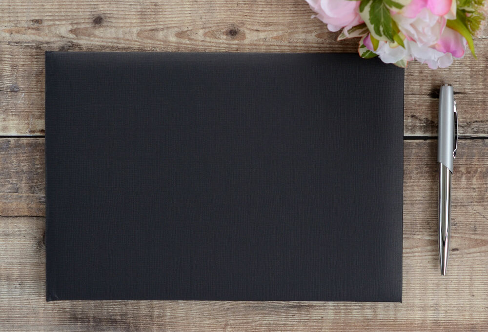 Plain Blank Black Guest Book DIY Wedding Guest Book EBay