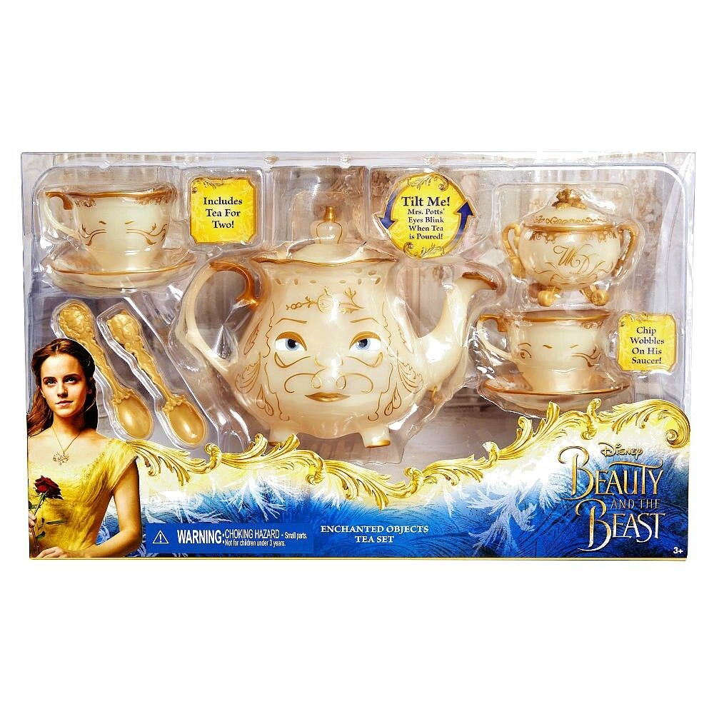 2017 Beauty And The Beast Enchanted Objects Tea Set Chip