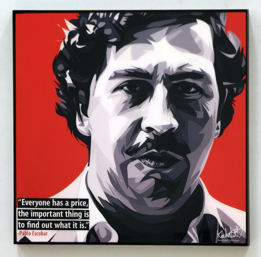 Pablo Escobar Canvas Quote Wall Decals Photo Painting Pop
