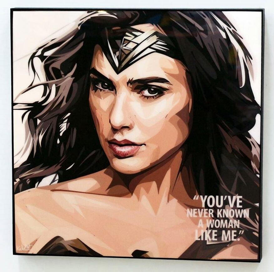 Wall Decals Pop Art : Wonder woman gal gadot canvas quote wall decals photo