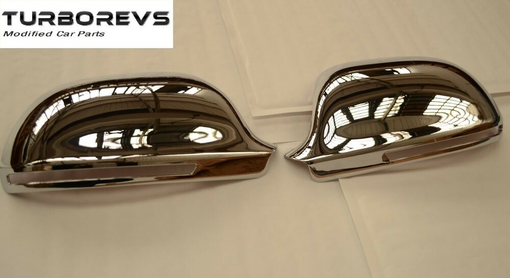 chrome wing door mirror covers caps for audi a3 s3 a4 a5. Black Bedroom Furniture Sets. Home Design Ideas