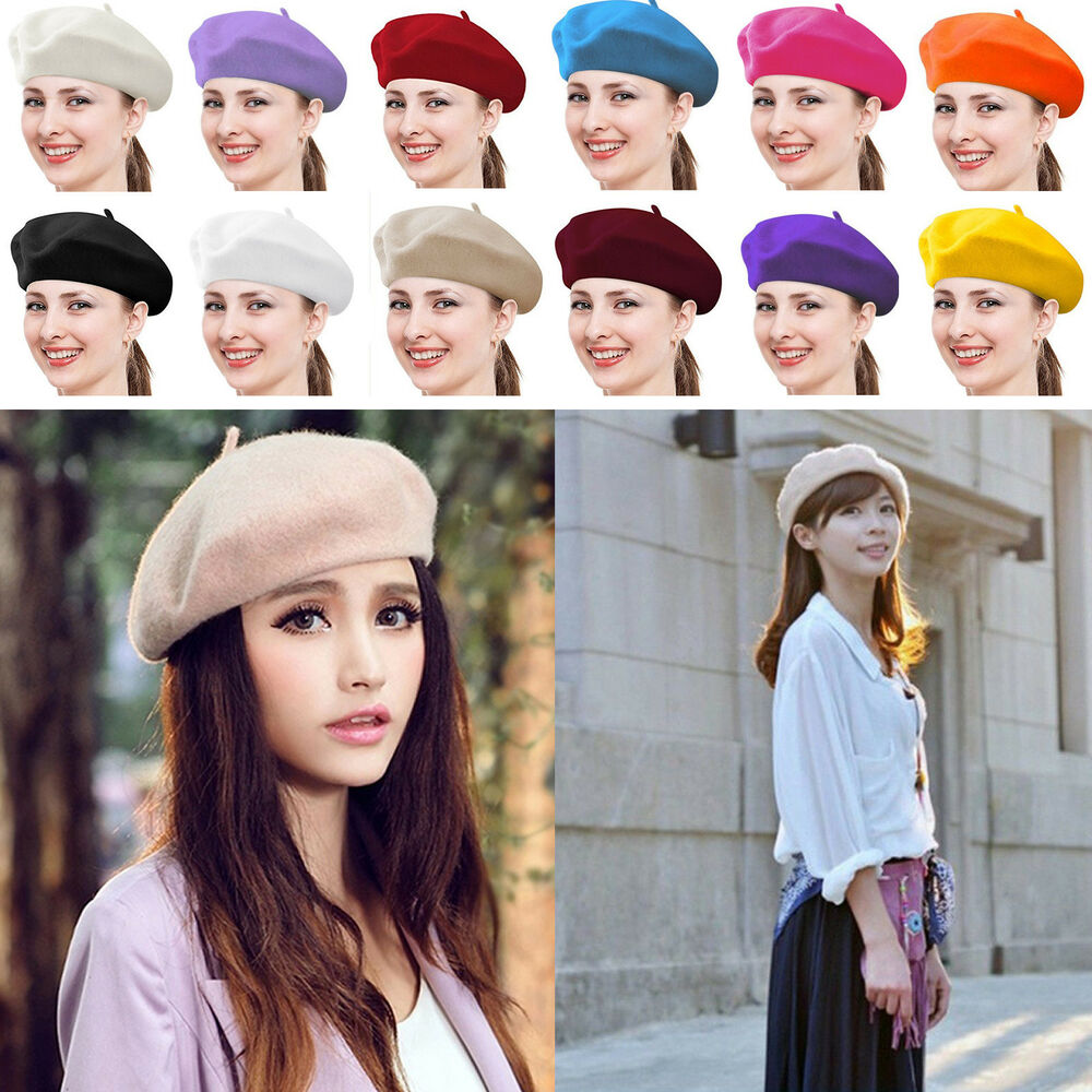 Details about Beret Hats For Women Khaki Beanie Fashion Winter Artist French  TRENDY Cap Gift 08206786378b