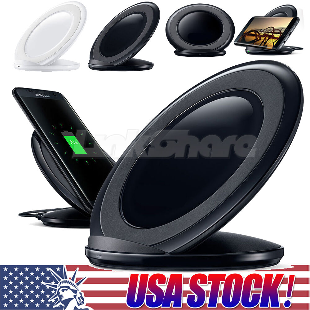qi wireless fast charger charging stand dock pad for. Black Bedroom Furniture Sets. Home Design Ideas