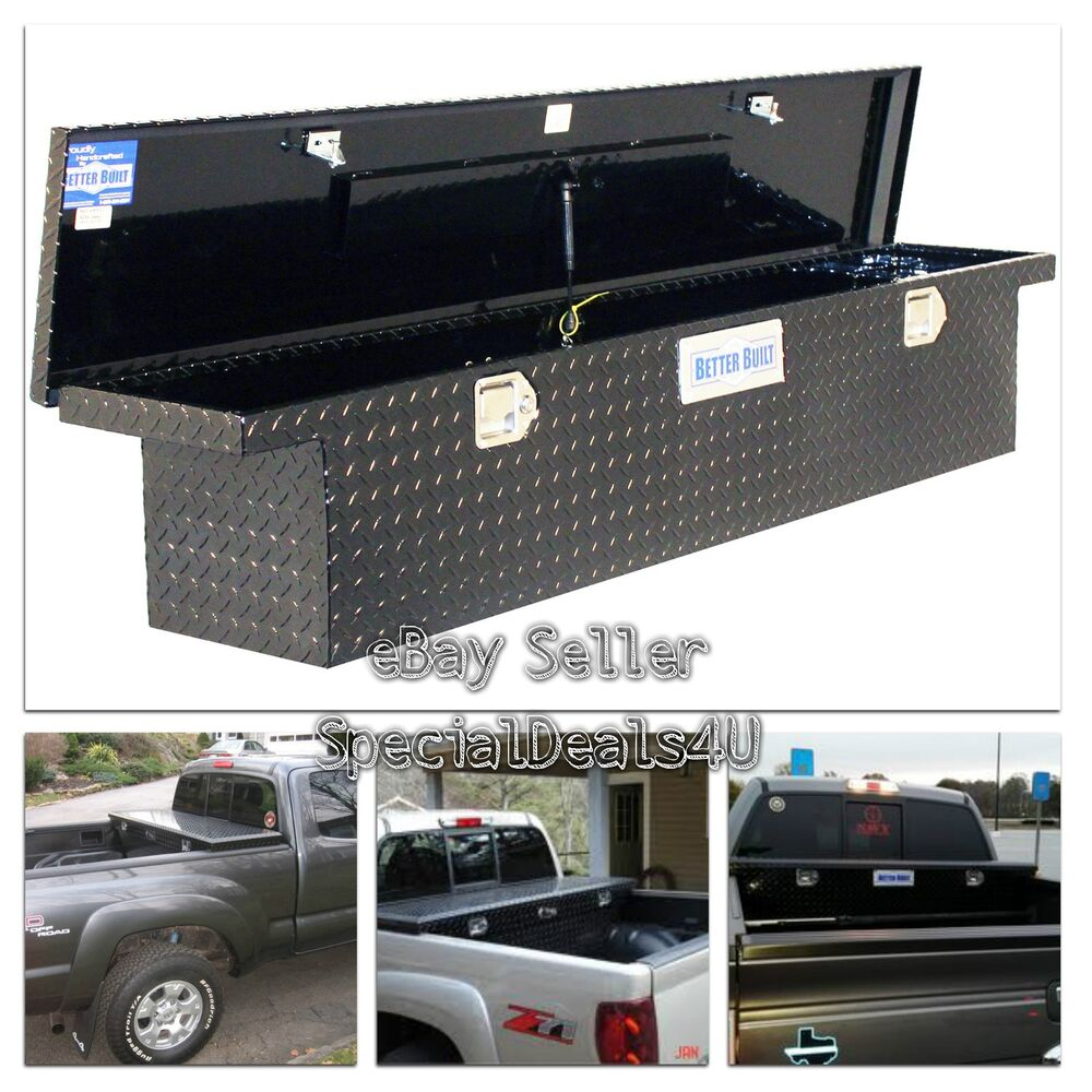 truck bed tool box storage low profile full size slimline car carriage black new ebay. Black Bedroom Furniture Sets. Home Design Ideas