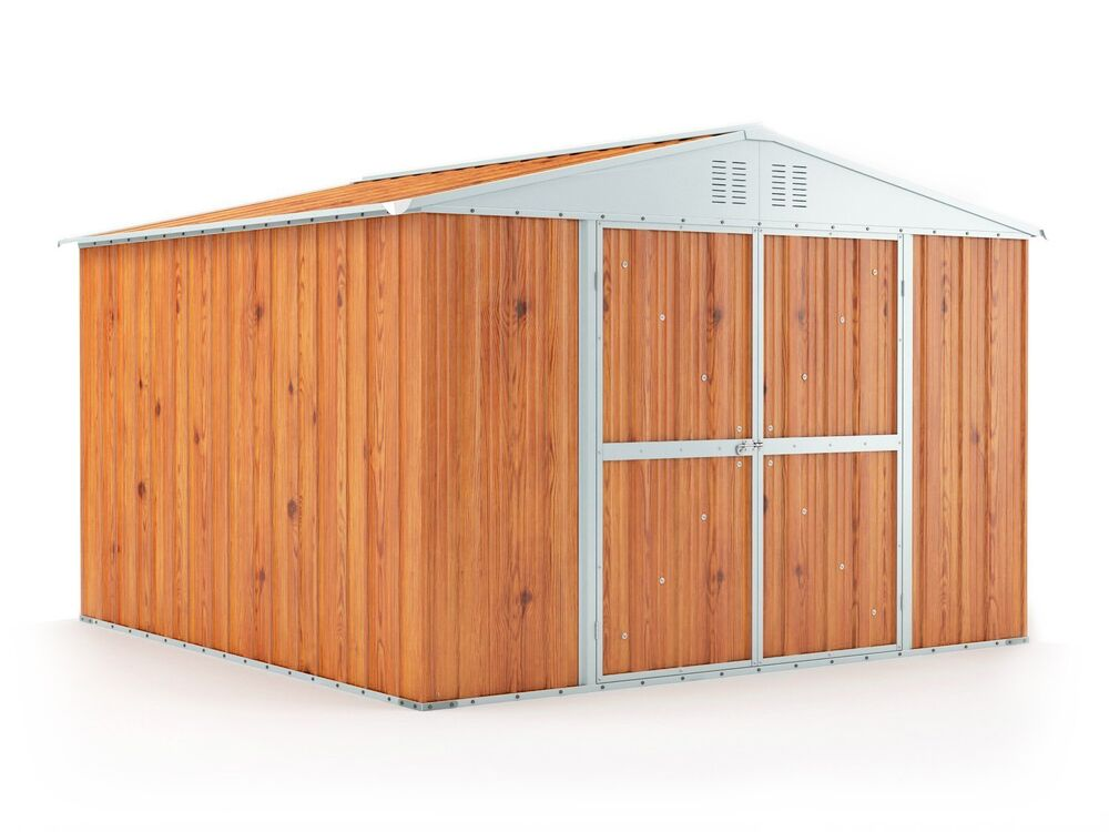 Garden shed x x wood finish 3x3 storage for Garden shed 3x3