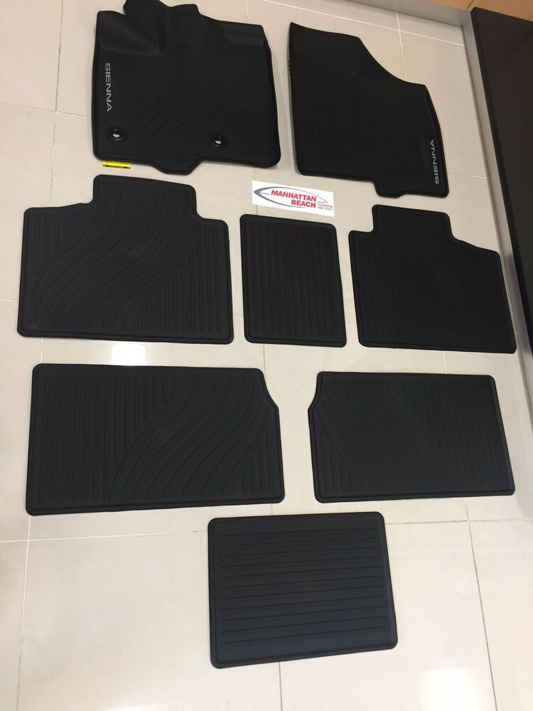 2013-2019 SIENNA ALL WEATHER RUBBER TUB FLOOR LINER MATS ...