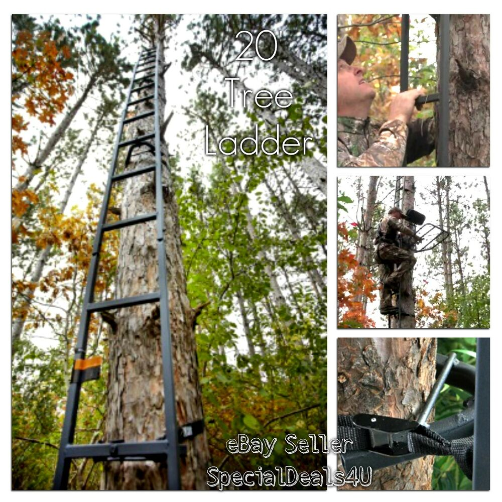 Deer Hunting Ladder Tree Stand 20ft Sniper Rifle Bow